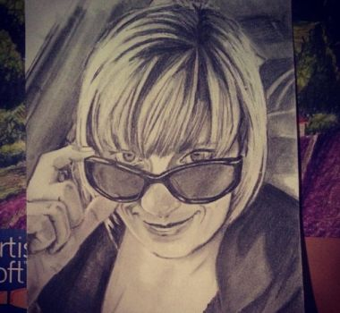 Tanji (co-worker, pencil drawing from last year) by R053DR4GON