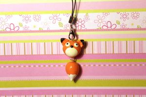 Derp fox key-chain/ charm by KiwiPheonix