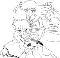 InuYasha and Kagome by InuSaiga