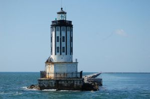 the san pedro light house by theFATpirate