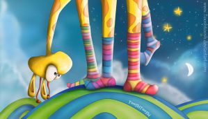 Striped socks - Tooshtoosh by childrensillustrator
