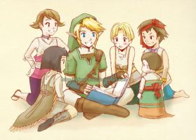 Story Time with Link by piano-kun