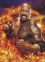 wwe the ROCK by jsc3773