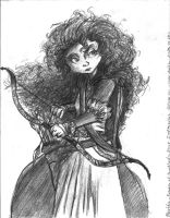 Princess Merida - Sketch by TheLivingShadow