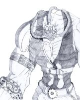 bane steampunk sketch by solid-snake92