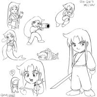 Goe Goe 3 Yae drawings by geruru