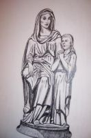 Mary and Jesus by Bigterri