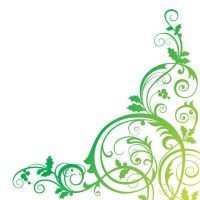 Floral background green vector illustration by cgvector