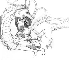 Hanatsumi sketchy time: The Dragon's Protection by Hanatsumi