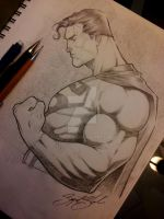 superman pencil comission by Sajad126