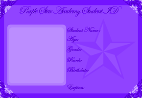 Purple Star Academy ID Card by Lyra-Elante