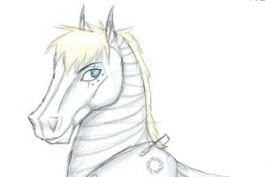 Wheatley Horse Request (Sketch) by AtemuMustang