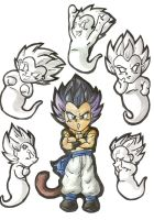 Chibi Gotenks and Ghosties by nekoni