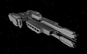 HALO 2 UNSC Frigate WIP 2 by korblborp