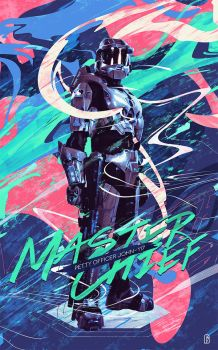 Master Chief 117 by bastienald