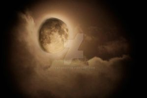 Moon in the Clouds by cathy001