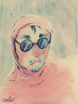 Pink Guy Watercolor by GryphonDecay