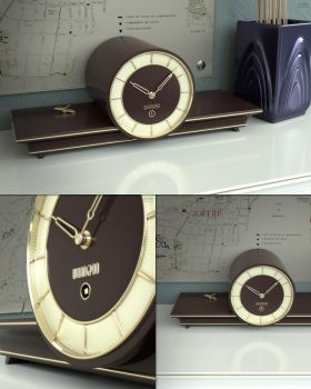 Art Deco Clock by Lowcola