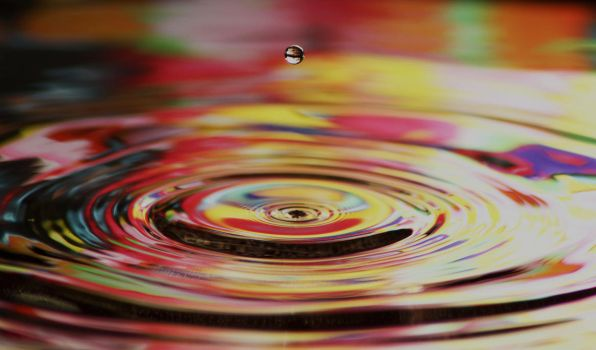 Colourful water drop by moose30