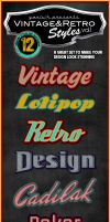 Vintage Retro Photoshop Styles VOL.1 by yAniv-k