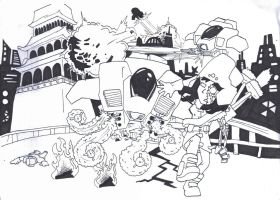 Gena enviroment final composition (inked) by Migarcia