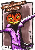 Halloween Town Sketch Card by Fellhauer