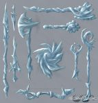 Ice Weapons by sage525