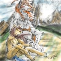 Fenir and Kitoth by lomstat