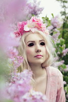 Blackeyed pastel girl by Estelle-Photographie