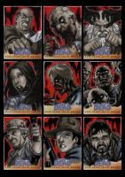 The Walking Dead Comic Book Sketchcards Set 2 by Guy-Bigbelly