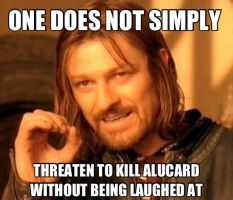 Alucard one does Not simply meme by alucardserasfangirl