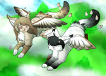 Playing On The Clouds By flareakacuteflareon by TaruKitsune