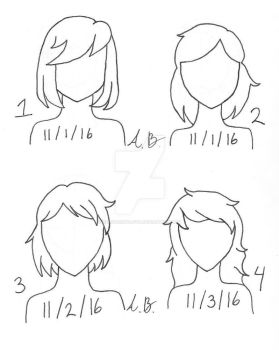 NBHN - Hairstyles Day 1-4 by ValkyrieWolf246