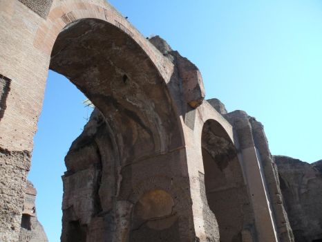 Arches in the Baths of Caracalla by J-N-K