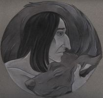 Severus and Padfoot by acatnamedeaster