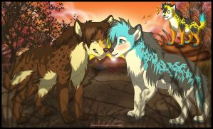 Love between hyena by Karolykan