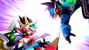 tribeking vs megaman psp w. by 7chopsticks7