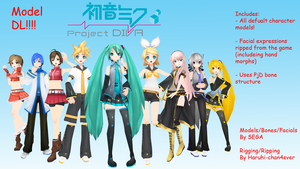 Project Diva Vocaloid Pack DL (600 Watchers Gift) by Haruhi-chan4ever