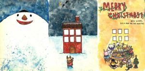 Christmas Card Project- More detailed templates by klapumpkin