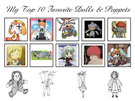 My Top 10 Favorite Dolls And Puppets by ajpokeman