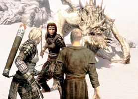 Defending Paarthurnax - Dovahkiin VS Blades, pic 1 by JaneShepard89