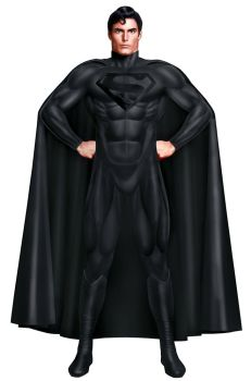 SUPERMAN MOURNING SUIT by supersebas