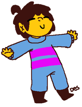 it's frisk.. but they're wearing a onesie by DesDraws