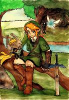 Link and Midna by draconar