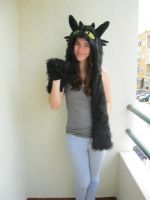 Toothless Cosplay Hat by ChoCoBa