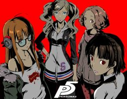 The Ladies of Persona 5 by LazyAxolotl