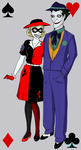 40s Joker and Harley by McXahn
