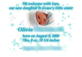 Olivia's Birth Announcement 2 by Metatonix