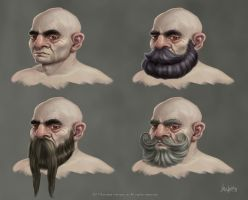 Male Dwarf hair style concepts by agoliversen