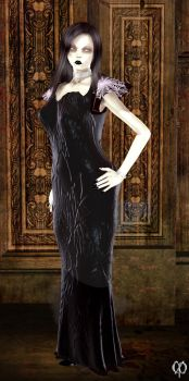 Her Mae West dress by Chronophontes